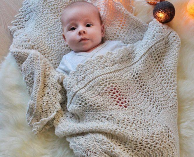 Mary tæppet – det royale babysvøb – gratis strikkeopskrift