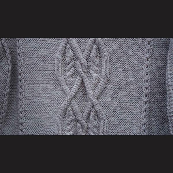 Aran sweater - strikkeopskrift med snoninger - Knit Wit Company