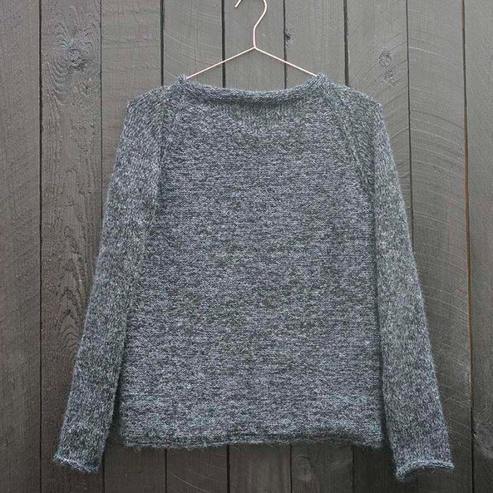 Efterår sweater let øvet strikkeopskrift og kit fra Knit Wit Company