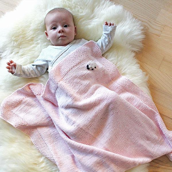 Baah Blanket strikkeopskrift - Knit Wit Company