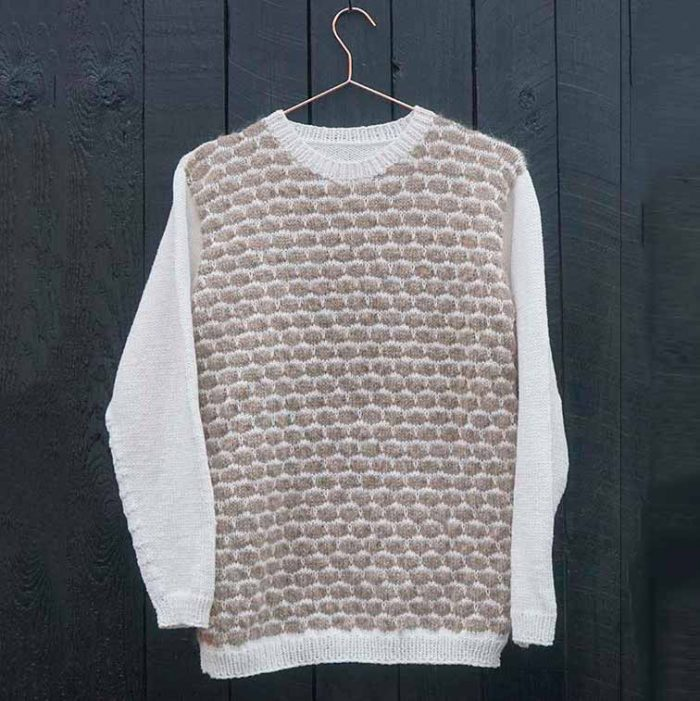Boble sweater - strikkeopskrift - Knit Wit Company