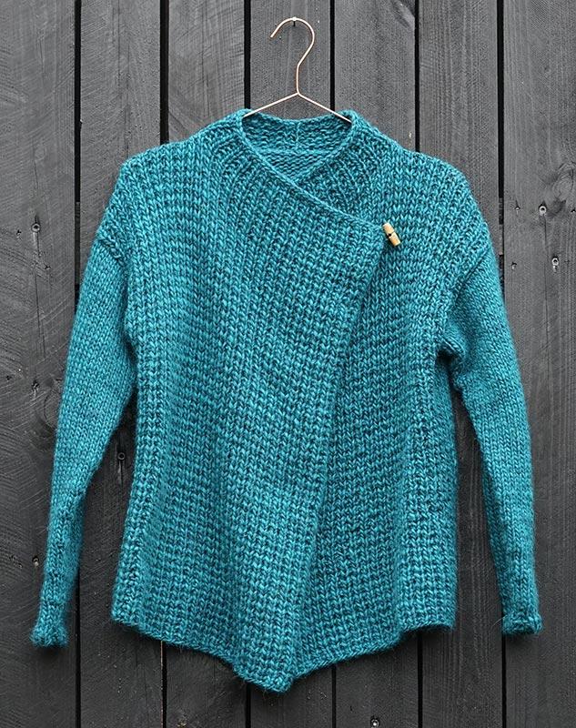 BUTTON1 cardigan strikkeopskrift - Knit Wit Company