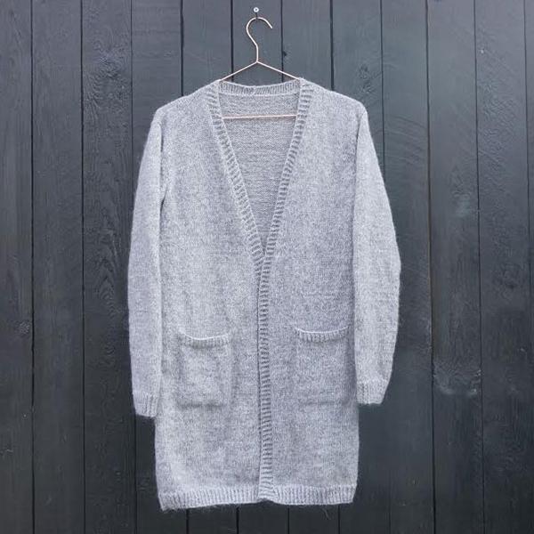 Mohair cardigan - strikkeopskrift - Knit Wit Company