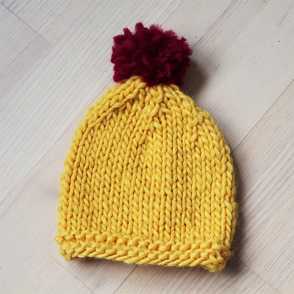 Baby chunky hue - strikkeopskrift - Knit Wit Company