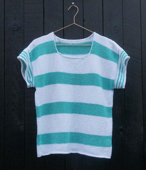 Gratis strikkeopskrift - sailor bluse fra Knit Wit Company
